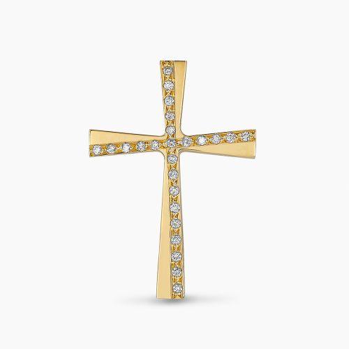ΣΤΑΥΡΟΣ ΤΡΙΑΝΤΟΣ ΜΕ ΔΙΑΜΑΝΤΙΑ ΧΡΥΣΟΣ 18 ΚΑΡΑΤΙΑ
